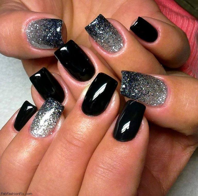 Дизайн ногтей в черном варианте