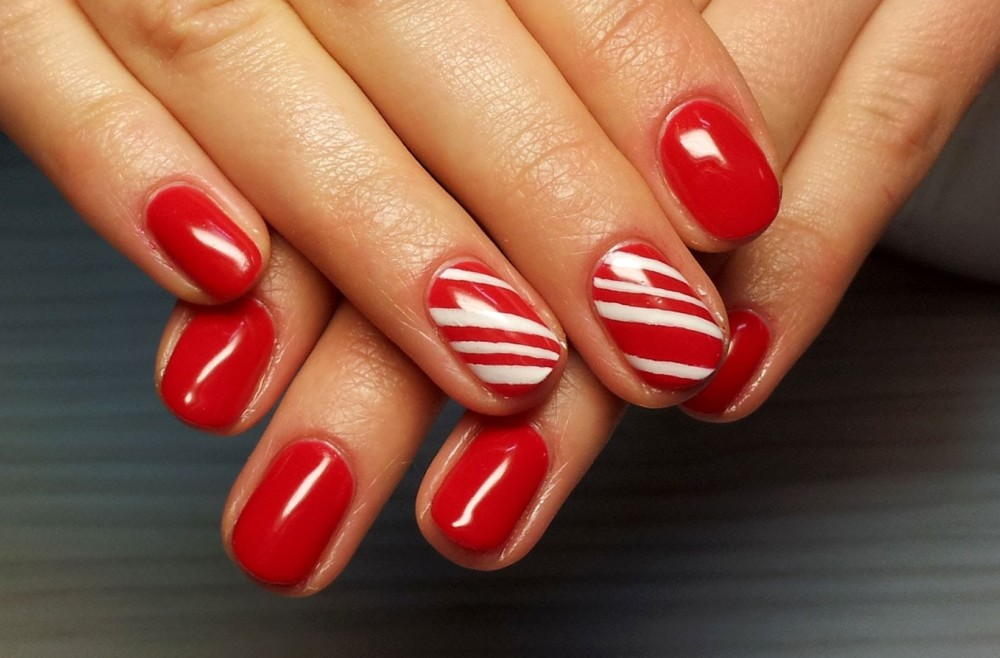 Дизайн Ногтей Красный С Золотом Фото