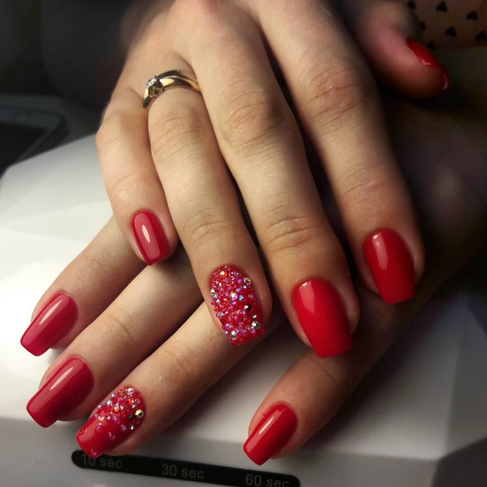 красивый дизайн ногтей красного цвета фото новинки