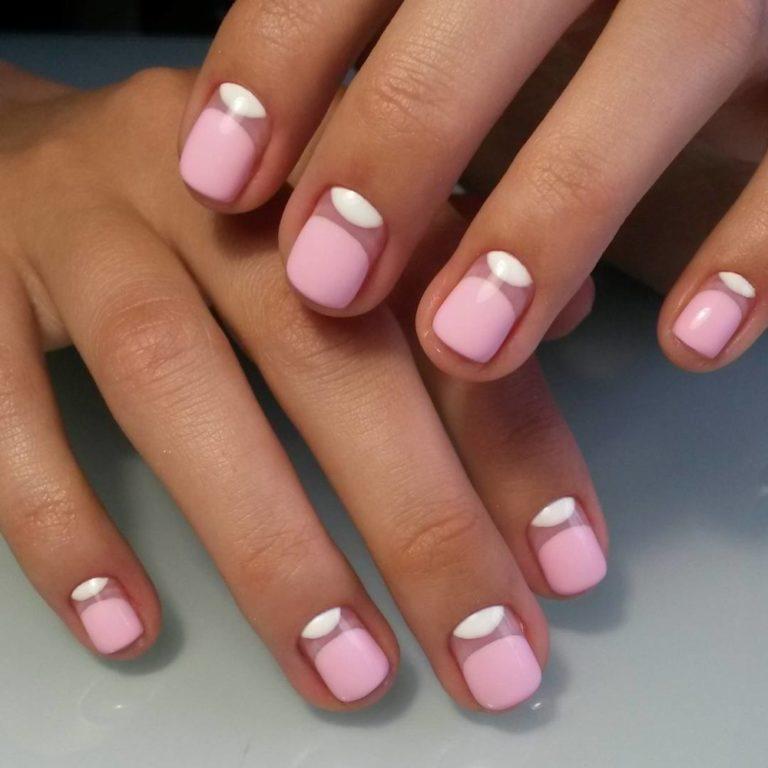 Красивые ногти лунный маникюр