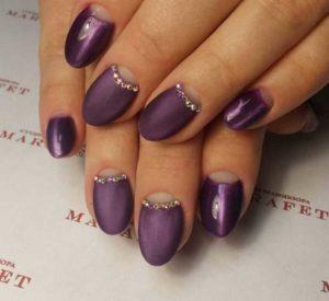 Гель Лак Фиолетовый Кошачий Глаз