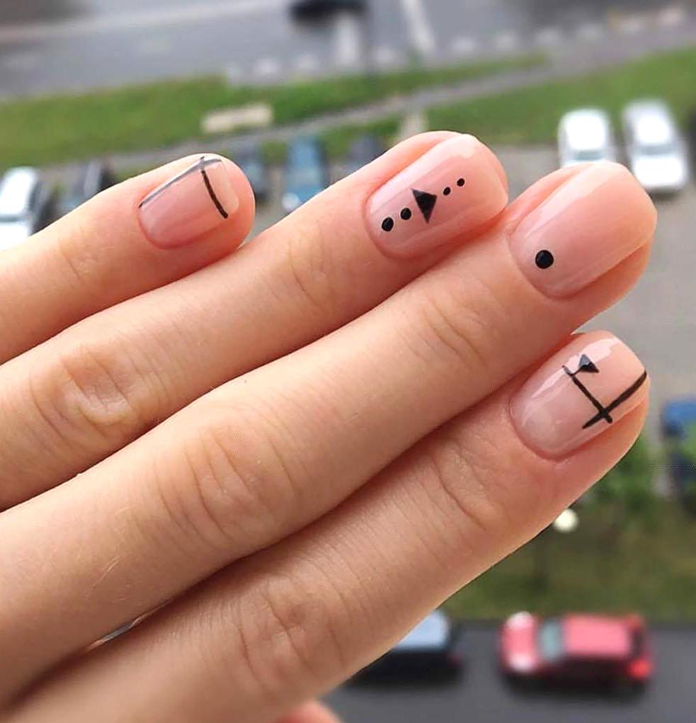 Красивый маникюр на коротких ногтях 2017