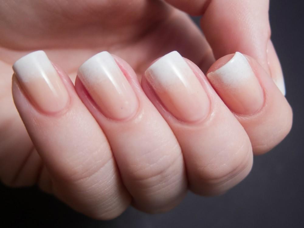 Нарощенные ногти дизайн омбре 10