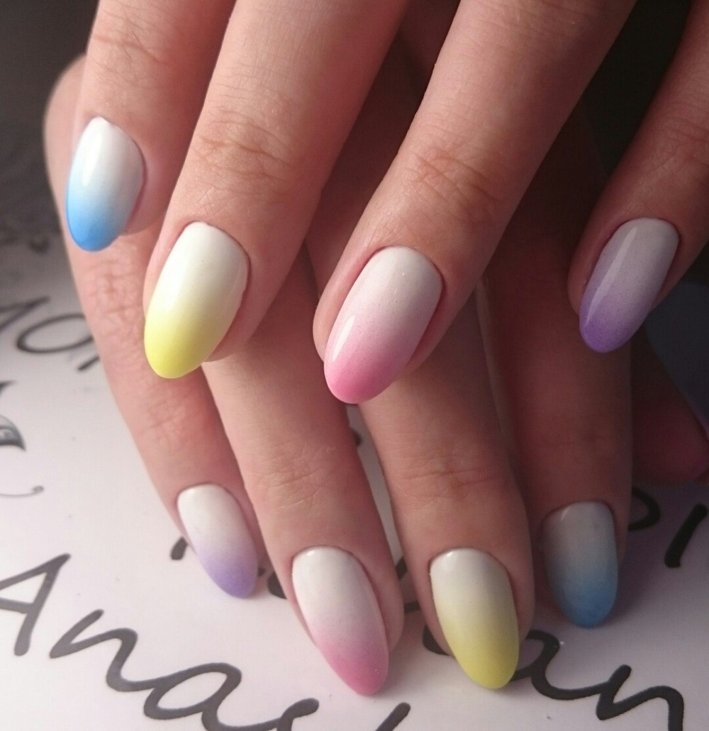 Как сделать омбре на ногтях фото пошагово фото 678