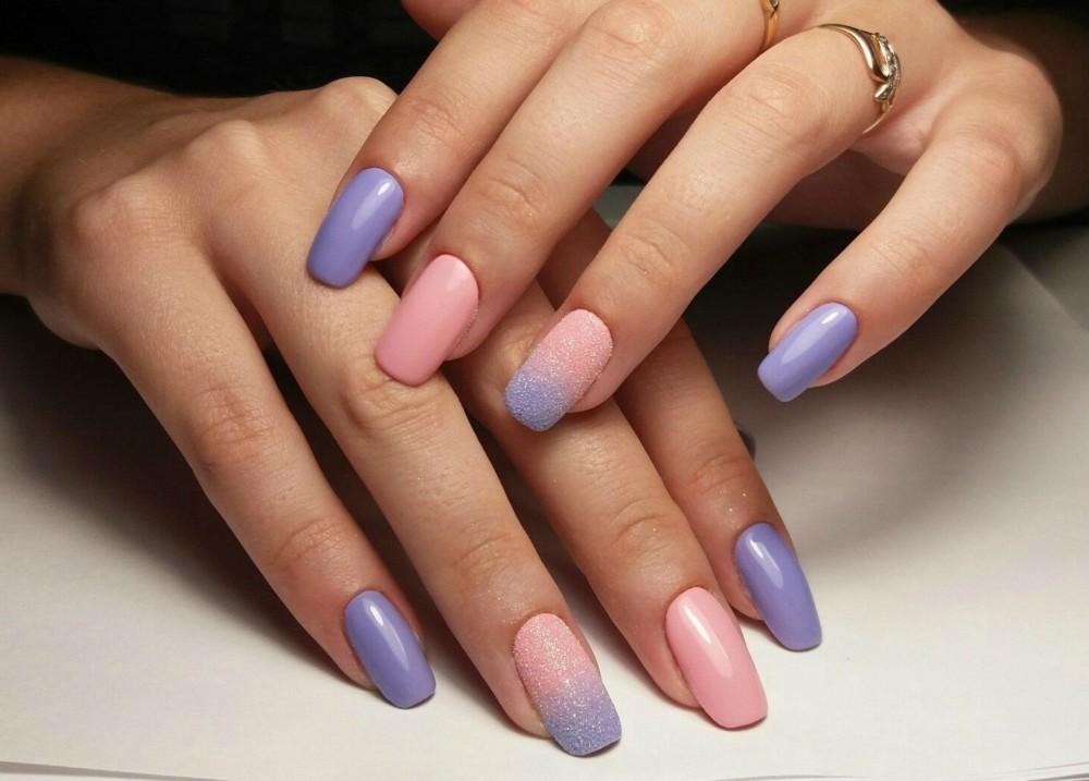 Нарощенные ногти дизайн омбре 23