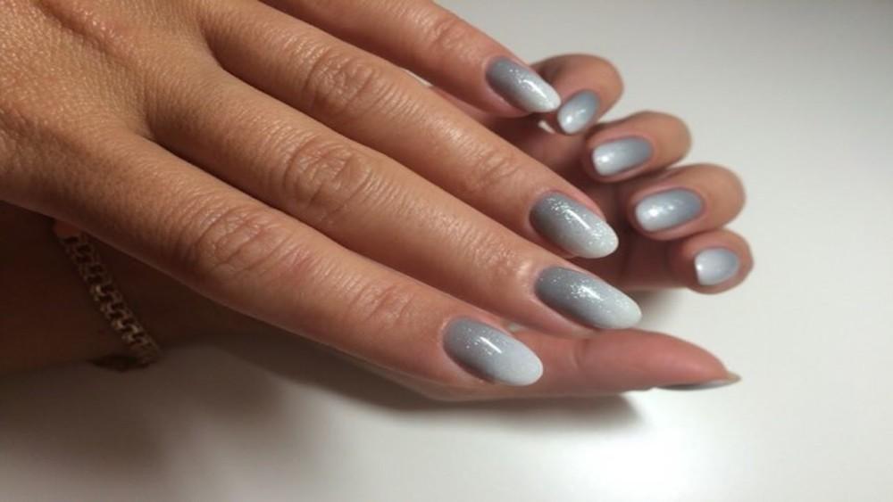 Нарощенные ногти дизайн омбре 25
