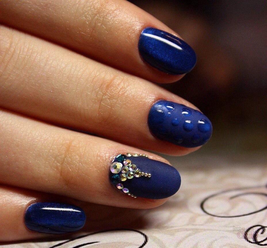 Синий маникюр - варианты идеального сочетания и дизайна (23 ...