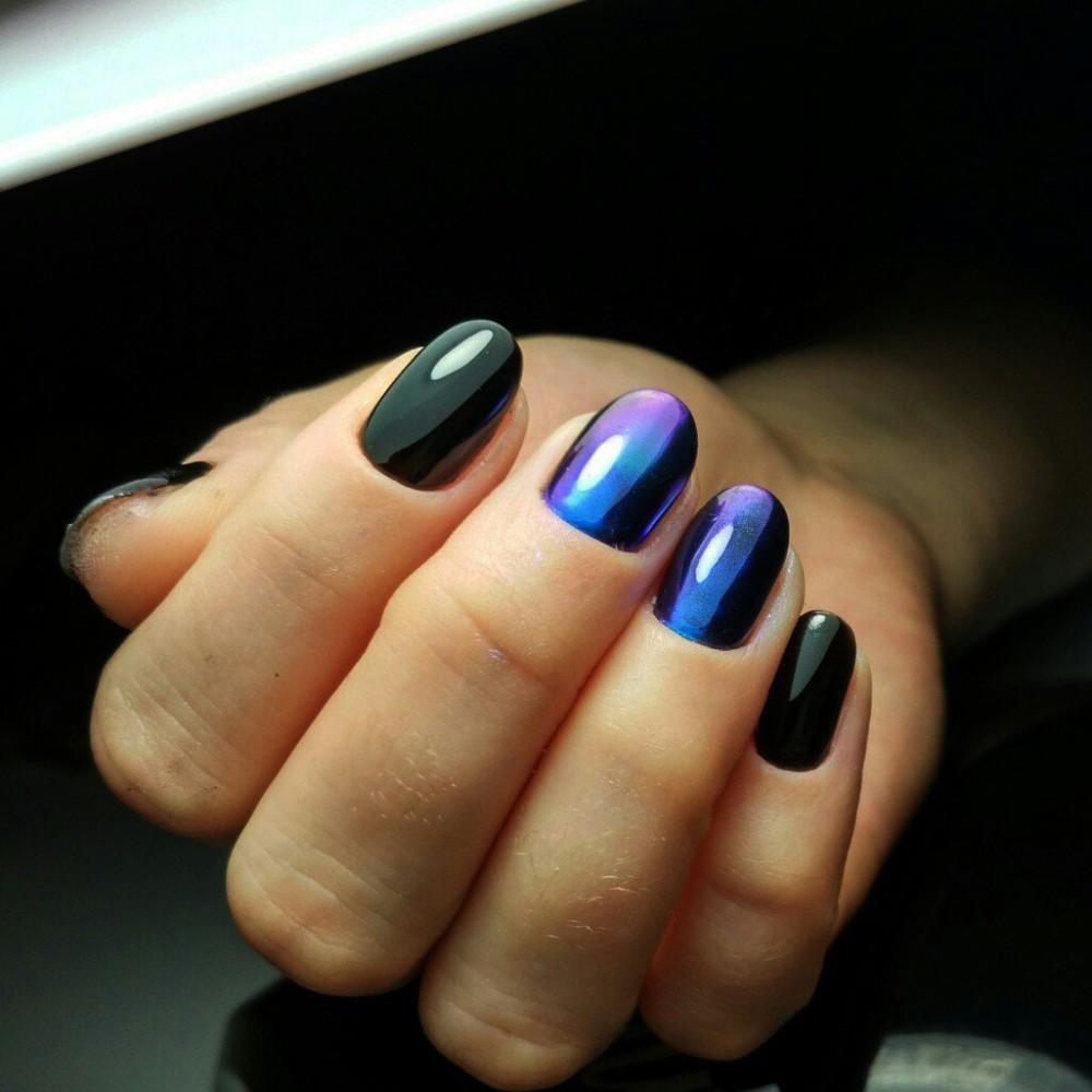 Дизайн с втиркой для ногтей дизайн