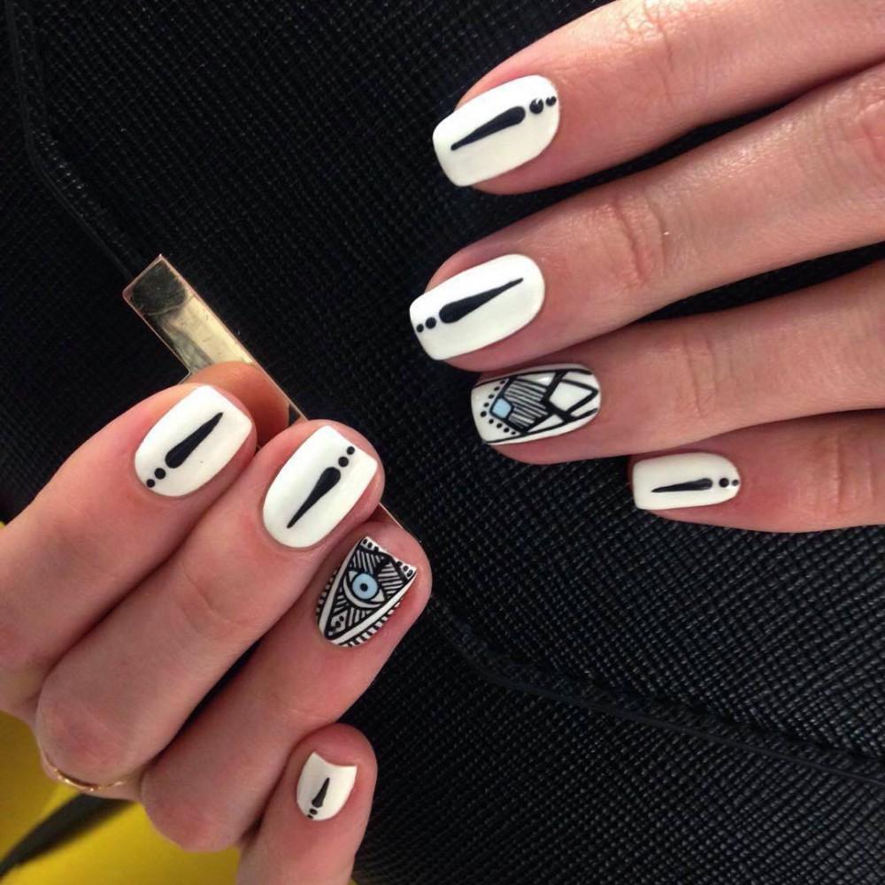 Геометрия на ногтях гель лаком