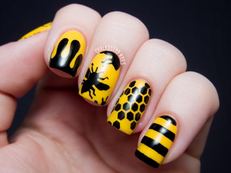 Маникюр пчелка фото