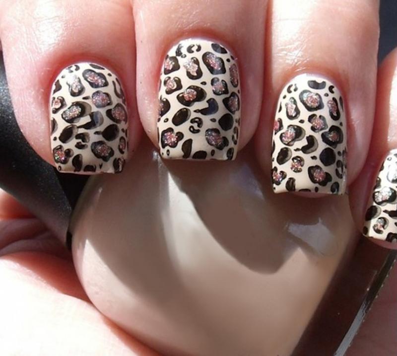 Леопардовый маникюр фото и мастеркласс