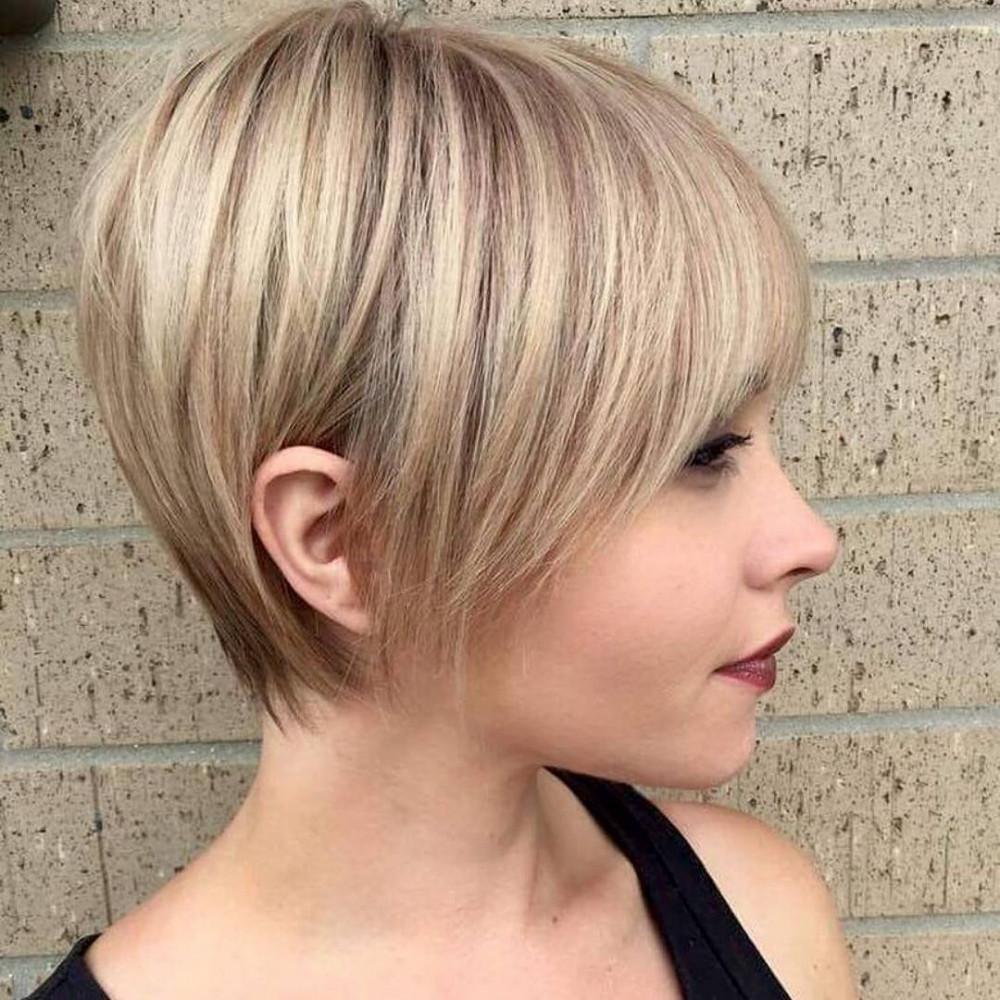 женская стрижка пикси-боб на короткие волосы