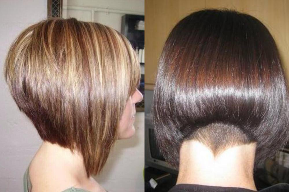 женская стрижка на короткие волосы боб-каре на ножке