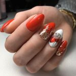 новогодний маникюр на короткие ногти