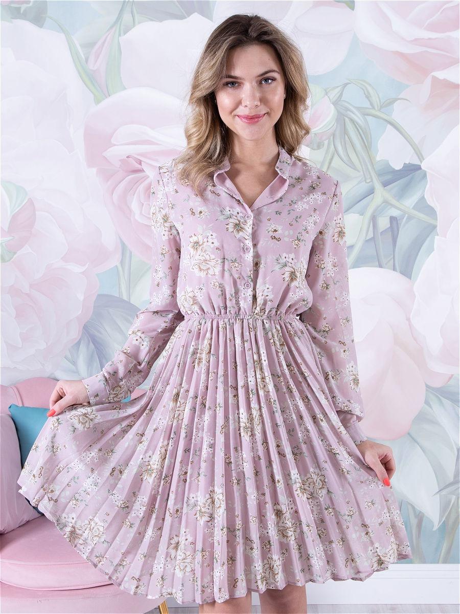 пастельное платье розовое с бежевым