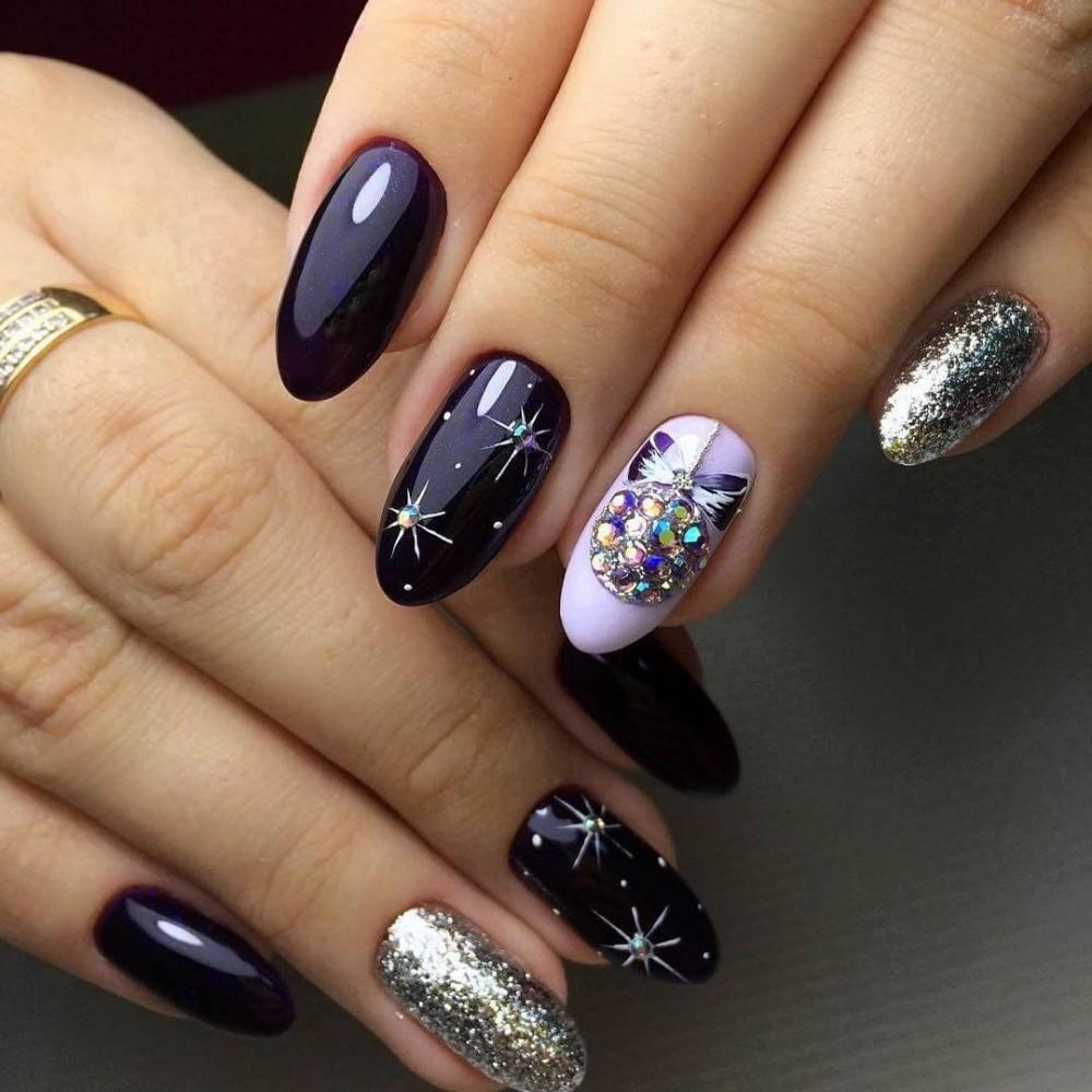 Маникюр на короткие ногти: новогодний дизайн, красивый..