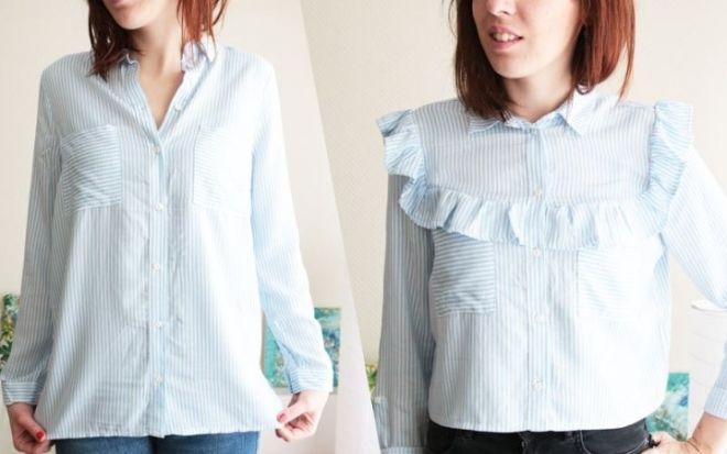 переделка блуз и рубашек