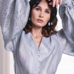 блузки с объемными рукавами на новый год